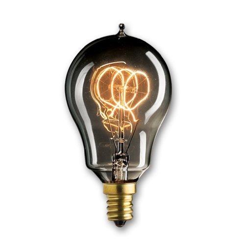 Loop Candelabra (Bulbrite NOS25A15/LP/E12/SMK 25-Watt Nostalgic Edison A15 Bulb, Vintage Loop Filament, Candelabra Base, Smoke by Bulbrite)