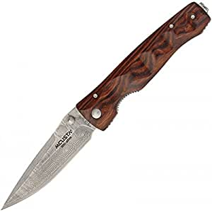Mcusta Knives Tactility Knife with Damascus Blade and Indian Rosewood Handle Model 122DR / MC-0122DR