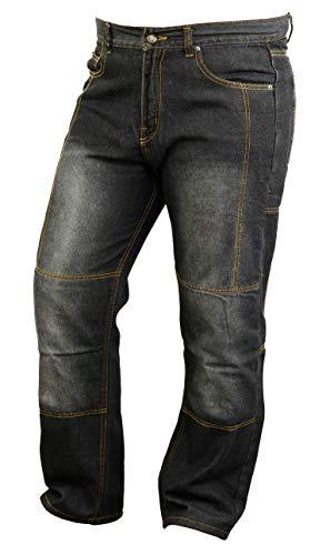 GEARX Motorrad Kevlar gefüttert Jeans mit Armours Abriebfest W32 L30