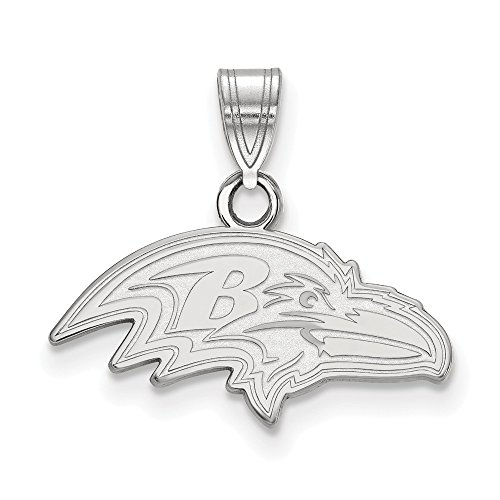 (NFL Sterling Silver Baltimore Ravens Small Pendant)