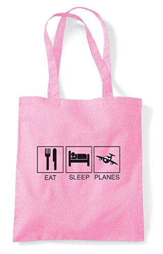 Bag Sleep Light Pink Planes Hobby Shopper Tote Funny Tiles Eat Activity TFzZqF0