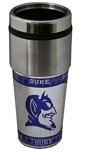 Ncaa Duke Blue Devils Football - NCAA Duke Blue Devils 16 oz Travel Tumbler with Metallic Wrap