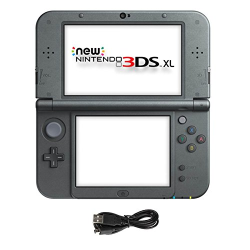 New Nintendo 3DS XL Black Handheld Console and AC Adapter.