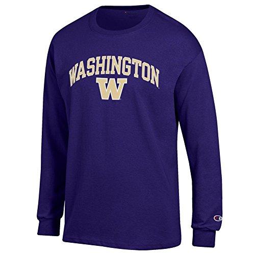 Elite Fan Shop Washington Huskies Long Sleeve Tshirt Varsity Purple - M