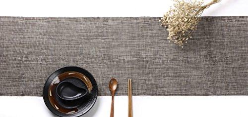 HYSENM Western Style Eco-Friendly Rectangular Heat Insulation PVC Vinyl Weave Table Runner, -