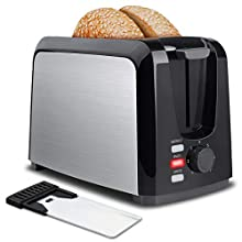 Toaster 2 Slice,Stainless Steel Toaster Wide Slots Toasters 7 Shade Settings with Removable Crumb Tray for Bread, Waffles, Small Retro, Toasters