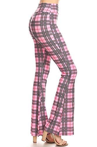 Leggings Depot Ultra Soft Popular Printed Stylish Palazzo Pants (Checkered Barbie, Medium) ()