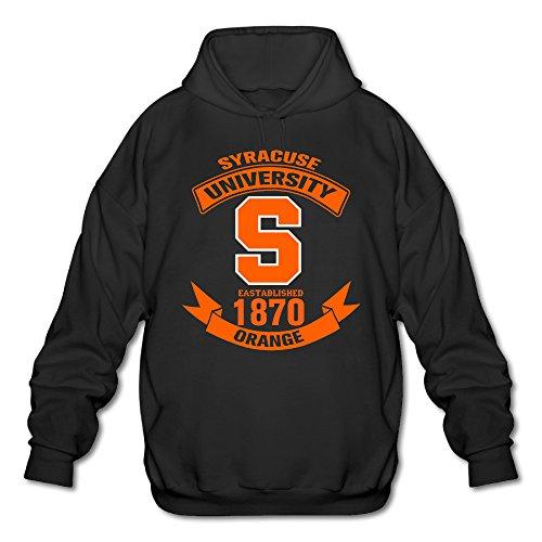 AUSIN Men's Syracuse University Football Hoodies Black Size L