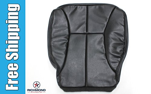 2001 Dodge Ram 2500 SLT Driver Side Bottom Replacement Leather Seat Cover, Dark Gray ()