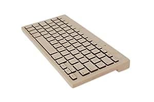 Oree Board Essential- Wooden Keyboard- Bluetooth & USB- Handcrafted in France (Maple, Mac)