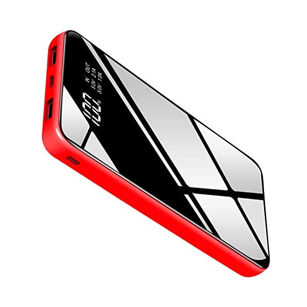 Power Bank Portable Charger 25000mah High Capacity Battery Pack Smaller Size Lighter Weigh with Full LCD Compatible Smart Devices Android Phone and Other Cellphones