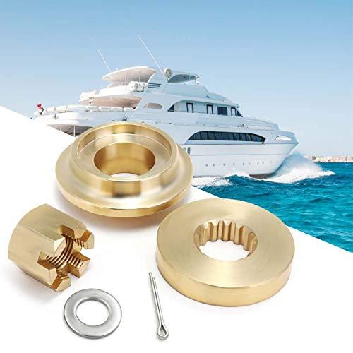Value.Trade.Inc - 5PCS For Suzuki DF90 115HP Boat Marine Propeller Hardware Kit Thrust Washer Spacer Nut Split Pin 15 Spline Tooth Brass