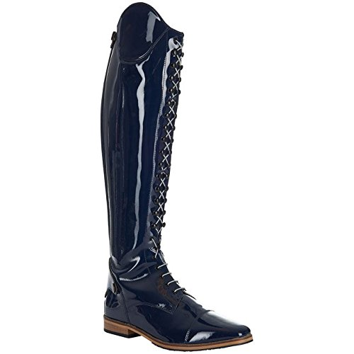 Imperial Riding Special Long Navy Boots In Vernice Blu