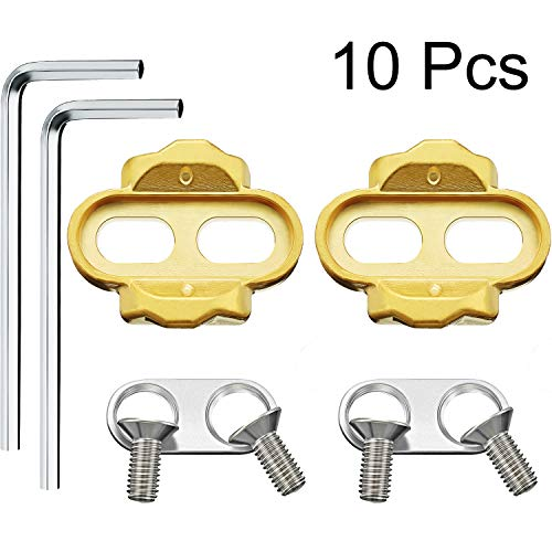 2 Packs Bike Cleats Bicycle Cleats Pedal Cleats and 2 Packs Hexagonal Wrench for Eggbeater, Candy, Smarty, Mallet Pedals
