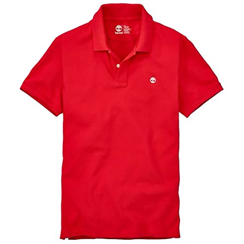 Timberland Men's Short Sleeve Millers River Pique Polo Shirt (Red, X-Large)