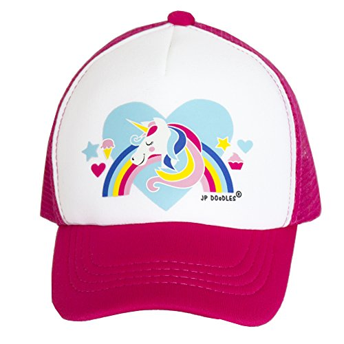 JP DOoDLES Unicorn on Kids Trucker Hat. The Kids Baseball Cap is Available in Baby, Toddler, and Youth Sizes.… (HOT Pink, Youth (5-7 YRS)) by JP DOoDLES