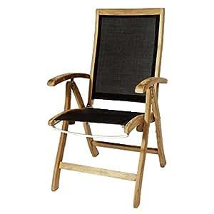 Plob 1011690respaldo alto sillón plegable, negro, 60x 72x 108cm