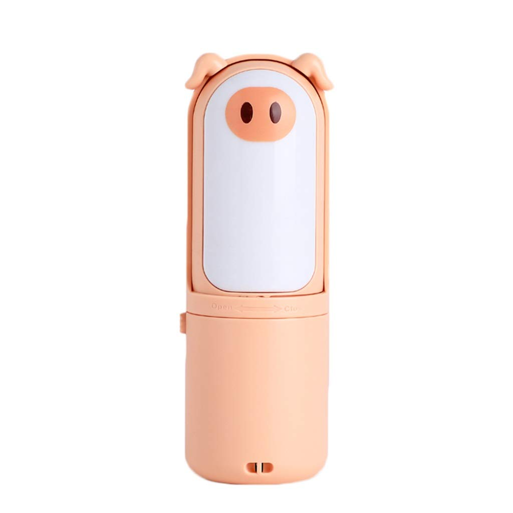 DDPP USB Handheld Mini Mini Fan Desktop Rechargeable Student Dormitory Portable Portable Cartoon,1