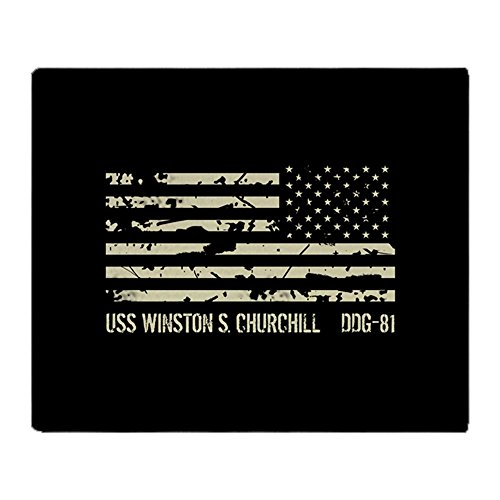 CafePress USS Winston S. Churchill Soft Fleece Throw Blanket, 50