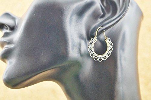 Boucles d'oreilles liaton avec sans pierre 26 mm x 26 mm