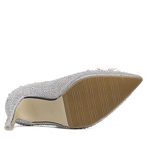 Sommermode Schuh High Slipper Fashion Fancy Glass Absatz Hochzeit Glas Cosplay Heels pAAU5q7