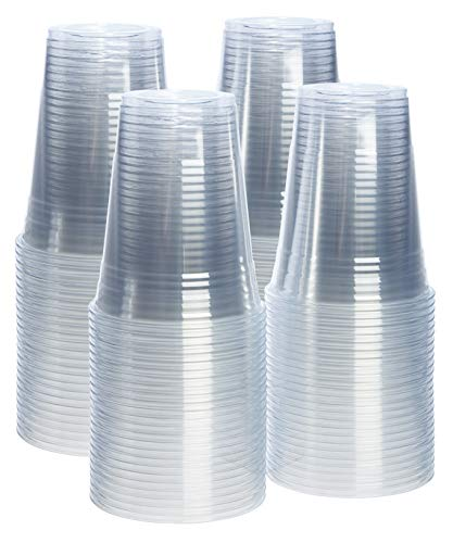 Party Pack Cups - [100 Pack - 16 oz.] Crystal Clear PET Plastic Cups