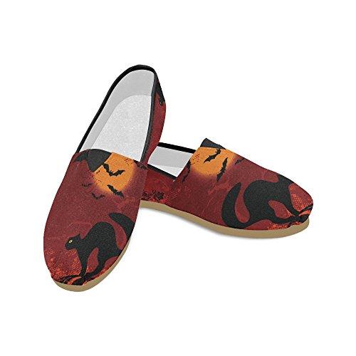 D-etasjers Mote Joggesko Flats Happy Halloween Gresskar Kvinners Klassiske Slip-on Canvas Sko Loafers Multi7