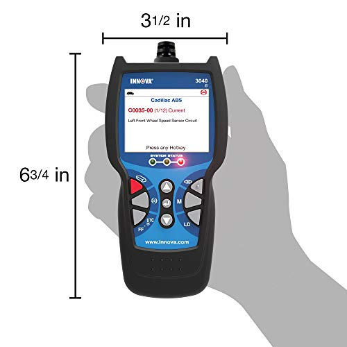 Innova Color Screen Light 3040e Diagnostic Code Reader/Scan Tool with ABS, Live Data and Oil Reset for OBD2 Vehicles by Innova (Image #3)