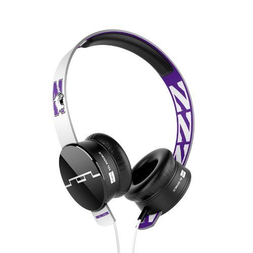 SOL REPUBLIC 1211-NWU Collegiate Series Tracks On-Ear Headphones with Three Button Remote and Microphone - Northwestern University (V8 Tracks Republic Headphones Sol)