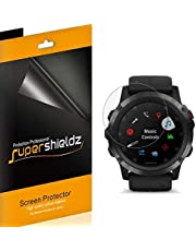 (6 Pack) Supershieldz for Garmin (Fenix 5 Plus) Screen Protector, High Definition Clear Shield (PET)