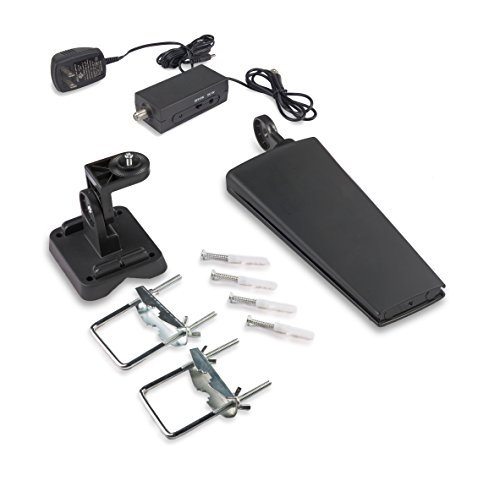 Liger Indoor/Outdoor Amplified HDTV Antenna - 65 Mile Range with Amplifier for the Highest Performance