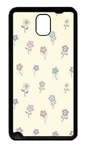Galaxy Note 3 Case, Note 3 Cases - Flower Pattern Design Soft Rubber Bumper Case for Samsung Galaxy Note 3 N9000 TPU Black