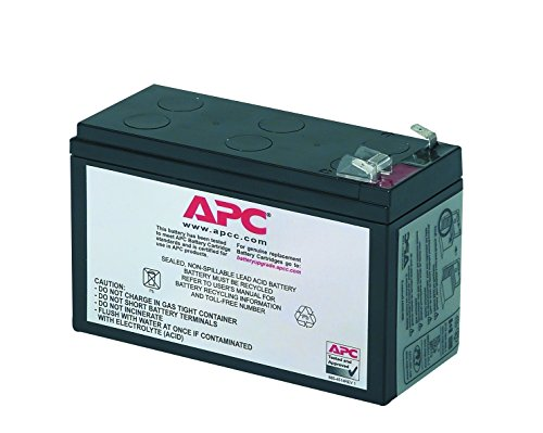 APC UPS Battery Replacement for APC Back-UPS Models BE500R, BE550MC, BK300C, BK350, BK500, BK500BLK, BK500M, BK500MC, BK500MUS, and SC420, SU420NET (RBC2)