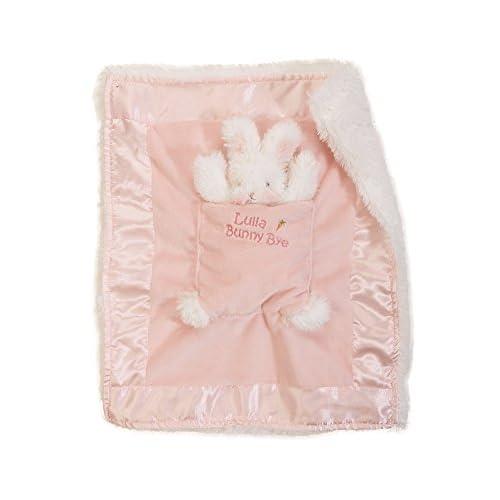Bunnies by the Bay Lulla Bunny Bye Binkie Blanket, Pink