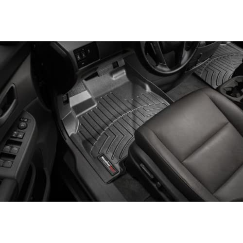 2011-2014 Hyundai Genesis-Weathertech Floor Liners-Full Set (Includes 1st and 2nd Row)-Sedan Only Fits Vehicles with 2 retentiion Posts instead of just one, Rear 2-Piece Part-Black supplier