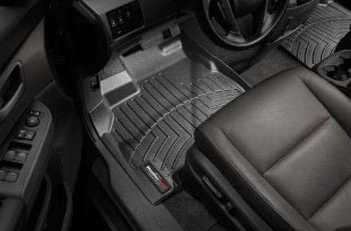 WeatherTech - 442271 - 2008 - 2011 Scion xD Black 1st Row FloorLiner (2010 Scion Xd Weathertech compare prices)