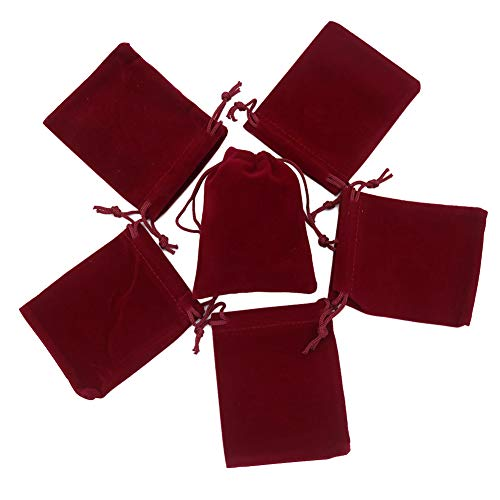 HRX Package Mini Velvet Gift Bag with Drawstring,20PCS Burgu