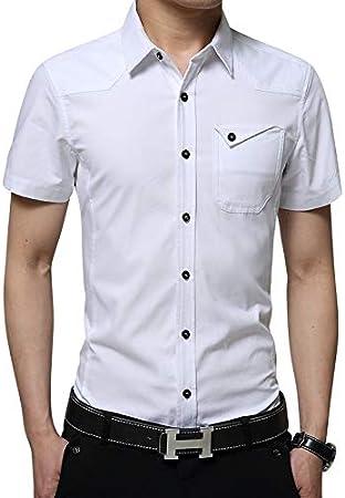 RSL Masculina Camisa de Manga Larga Coreana Delgada Camisa de algodón Ocasional y el algodón Terciopelo Joven Desgaste Externo Salvaje Tierra Suelta (Color : White3, Size : 3XL): Amazon.es: Hogar
