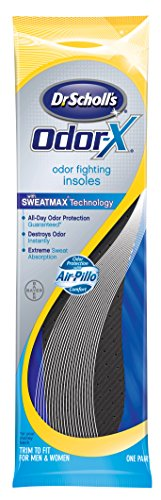 Charcoal Inserts (Dr. Scholl's Odor-X Odor Fighting Insoles, 1-Pair Packages (Pack of 4))