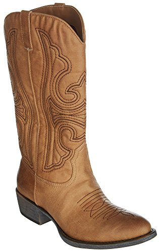 Boots Leather Western Shoe (Matisse Womens Legand Natural Synthetic Boots 6.5 B(M) US)