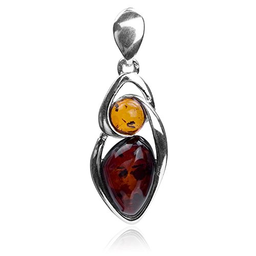 Gopher Jewelry Pendant (Multicolor Amber Sterling Silver Oval Pendant)