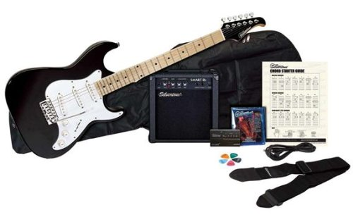 Silvertone Citation Electric Guitar and Amp Package, Liquid Black