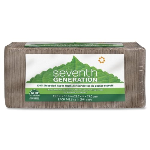 Seventh Generation 100% Recycled Napkins - 1 Ply - 500 Per Pack - 500 / Pack - 11.50