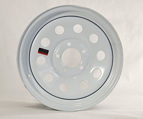 eCustomRim Trailer Wheel White Rim 15 x 5 Modular Style (5 Lug On 4.5'') by eCustomRim