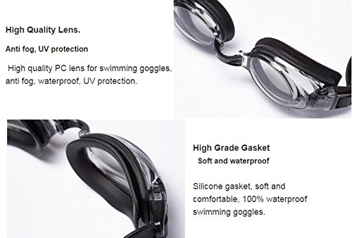 b40f01da3e5 Amazon.com   Aguaphile Prescription Swim Goggles Soft and Comfortable - Anti -Fog UV Protection - Best Prescription Swimming Goggle - Compare to Speedo  or ...