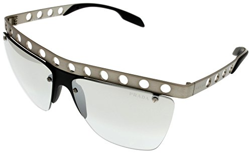 Prada Sunglasses Unisex Grey Mirrored Semi Rimless PR53RS - Sunglasses Prada Mirrored