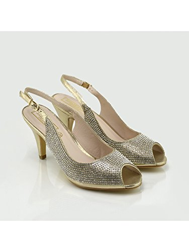 Kick Footwear Womens Wedding High Heels Fashion Shoes Gold Obiv4