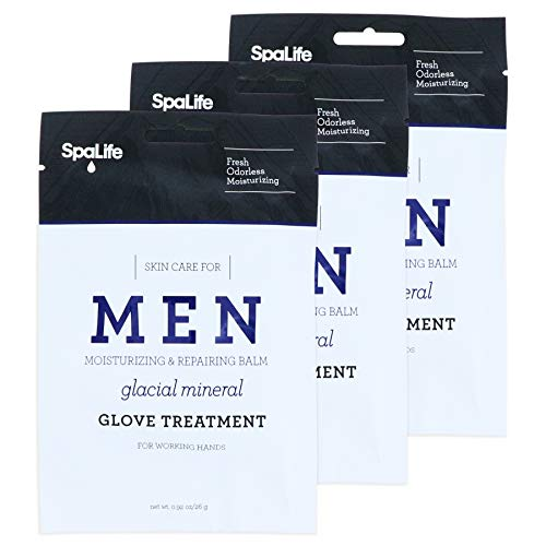 - Spa Life Men's Glacial Mineral Moisturizing And Repairing Balm For The Working Hand (Hand Gloves 3 Pairs)
