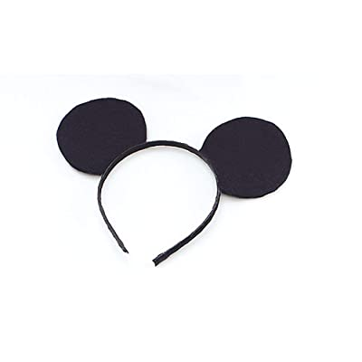 Black Felt Mouse Ears On Headband: Toys & Games