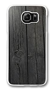 Black wood background Polycarbonate Hard Case Cover for Samsung S6/Samsung Galaxy S6 Transparent